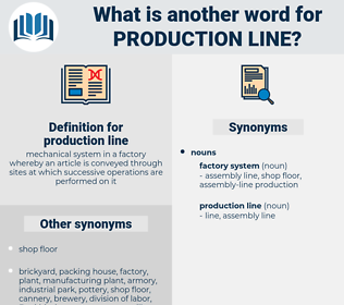 production line, synonym production line, another word for production line, words like production line, thesaurus production line