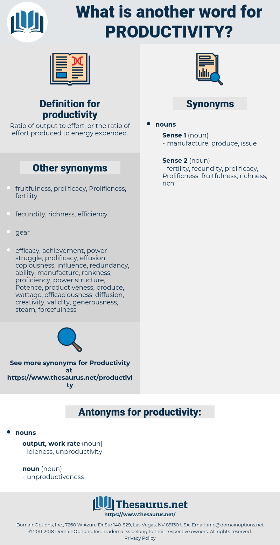 productivity, synonym productivity, another word for productivity, words like productivity, thesaurus productivity