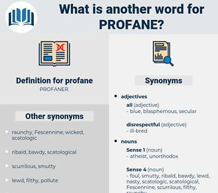 profane, synonym profane, another word for profane, words like profane, thesaurus profane