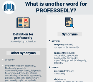 professedly, synonym professedly, another word for professedly, words like professedly, thesaurus professedly