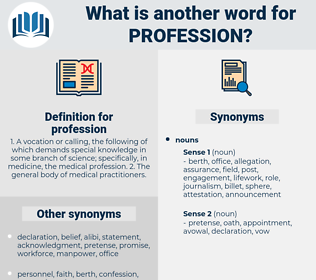 profession, synonym profession, another word for profession, words like profession, thesaurus profession