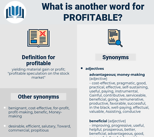 profitable, synonym profitable, another word for profitable, words like profitable, thesaurus profitable