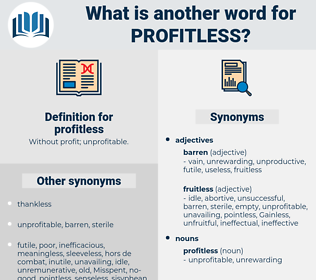 profitless, synonym profitless, another word for profitless, words like profitless, thesaurus profitless