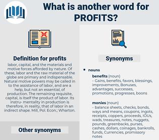 profits, synonym profits, another word for profits, words like profits, thesaurus profits