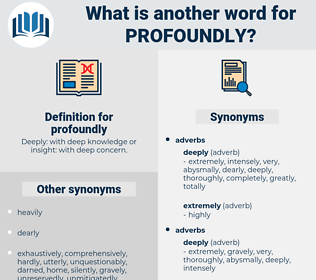 profoundly, synonym profoundly, another word for profoundly, words like profoundly, thesaurus profoundly