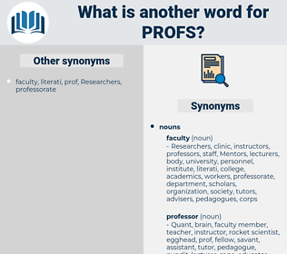 PROFS, synonym PROFS, another word for PROFS, words like PROFS, thesaurus PROFS