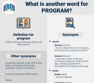 program, synonym program, another word for program, words like program, thesaurus program