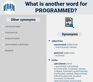 programmed, synonym programmed, another word for programmed, words like programmed, thesaurus programmed