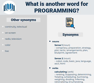 programming, synonym programming, another word for programming, words like programming, thesaurus programming