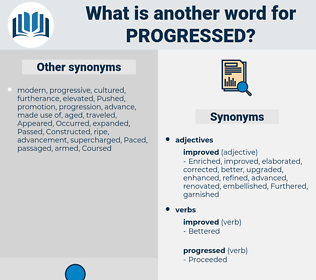 Progressed, synonym Progressed, another word for Progressed, words like Progressed, thesaurus Progressed
