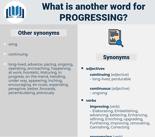 Progressing, synonym Progressing, another word for Progressing, words like Progressing, thesaurus Progressing