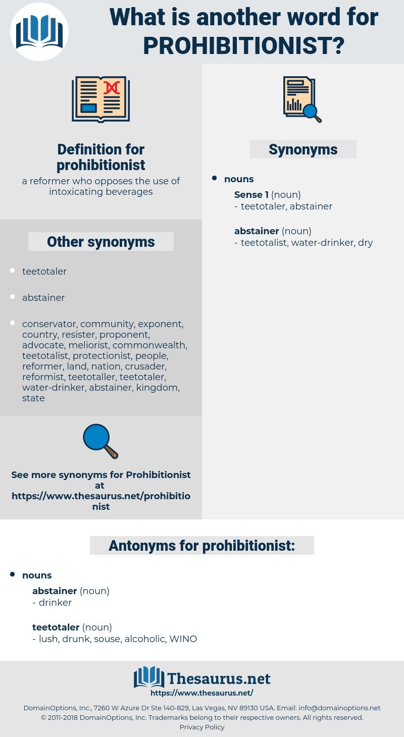 prohibitionist, synonym prohibitionist, another word for prohibitionist, words like prohibitionist, thesaurus prohibitionist