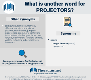 projectors, synonym projectors, another word for projectors, words like projectors, thesaurus projectors