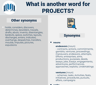 projects, synonym projects, another word for projects, words like projects, thesaurus projects