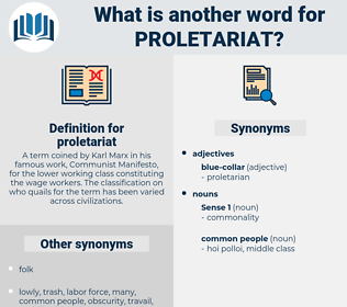 proletariat, synonym proletariat, another word for proletariat, words like proletariat, thesaurus proletariat
