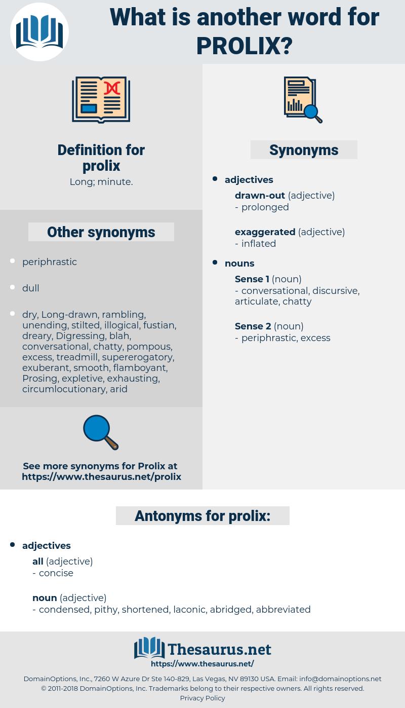prolix, synonym prolix, another word for prolix, words like prolix, thesaurus prolix