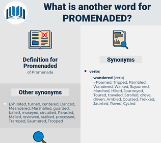 Promenaded, synonym Promenaded, another word for Promenaded, words like Promenaded, thesaurus Promenaded