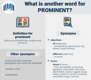 prominent, synonym prominent, another word for prominent, words like prominent, thesaurus prominent