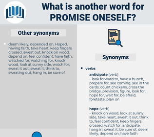 promise oneself, synonym promise oneself, another word for promise oneself, words like promise oneself, thesaurus promise oneself