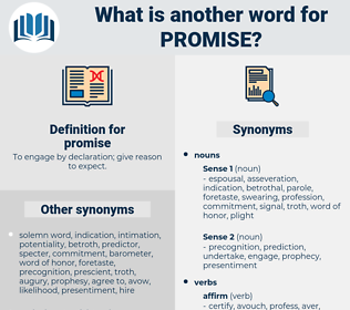 promise, synonym promise, another word for promise, words like promise, thesaurus promise