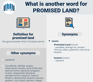 promised land, synonym promised land, another word for promised land, words like promised land, thesaurus promised land