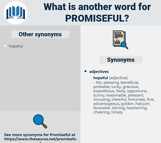 promiseful, synonym promiseful, another word for promiseful, words like promiseful, thesaurus promiseful