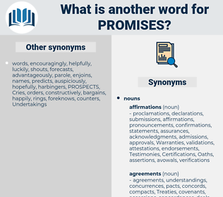 promises, synonym promises, another word for promises, words like promises, thesaurus promises