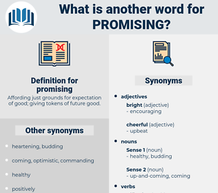 promising, synonym promising, another word for promising, words like promising, thesaurus promising