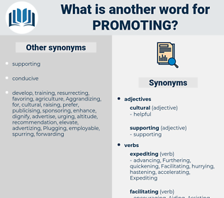 Promoting, synonym Promoting, another word for Promoting, words like Promoting, thesaurus Promoting