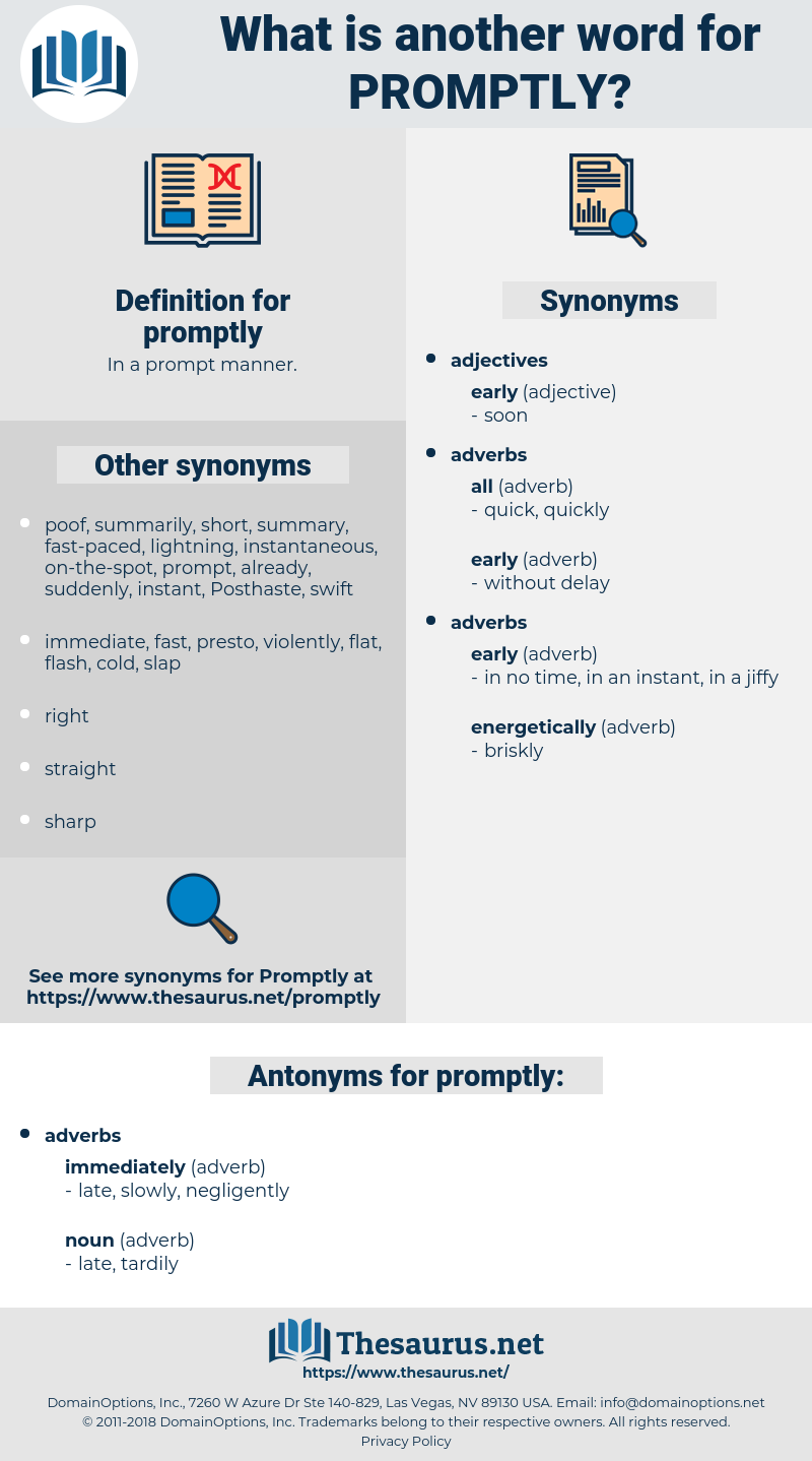 promptly, synonym promptly, another word for promptly, words like promptly, thesaurus promptly