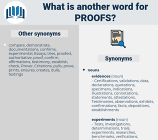 proofs, synonym proofs, another word for proofs, words like proofs, thesaurus proofs