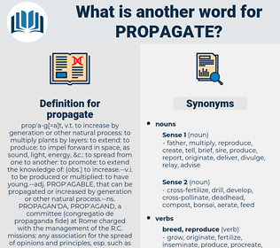 propagate, synonym propagate, another word for propagate, words like propagate, thesaurus propagate