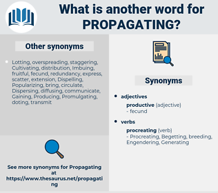 Propagating, synonym Propagating, another word for Propagating, words like Propagating, thesaurus Propagating