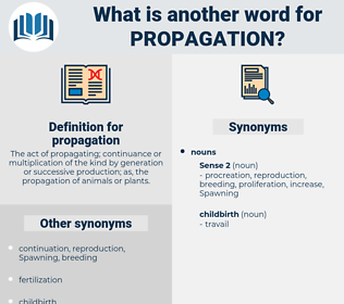 propagation, synonym propagation, another word for propagation, words like propagation, thesaurus propagation