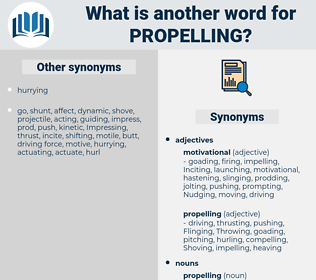 propelling, synonym propelling, another word for propelling, words like propelling, thesaurus propelling
