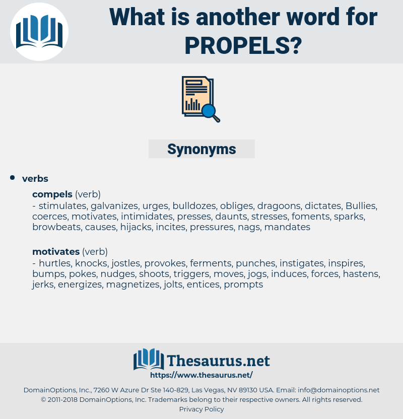 propels, synonym propels, another word for propels, words like propels, thesaurus propels