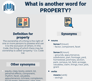 property, synonym property, another word for property, words like property, thesaurus property