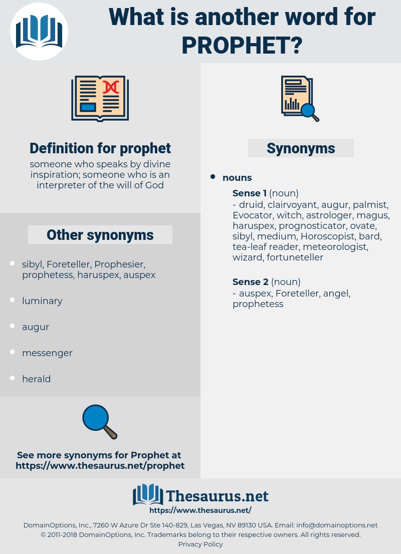 prophet, synonym prophet, another word for prophet, words like prophet, thesaurus prophet