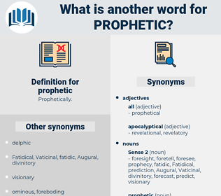prophetic, synonym prophetic, another word for prophetic, words like prophetic, thesaurus prophetic
