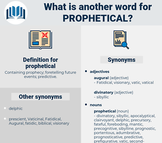 prophetical, synonym prophetical, another word for prophetical, words like prophetical, thesaurus prophetical