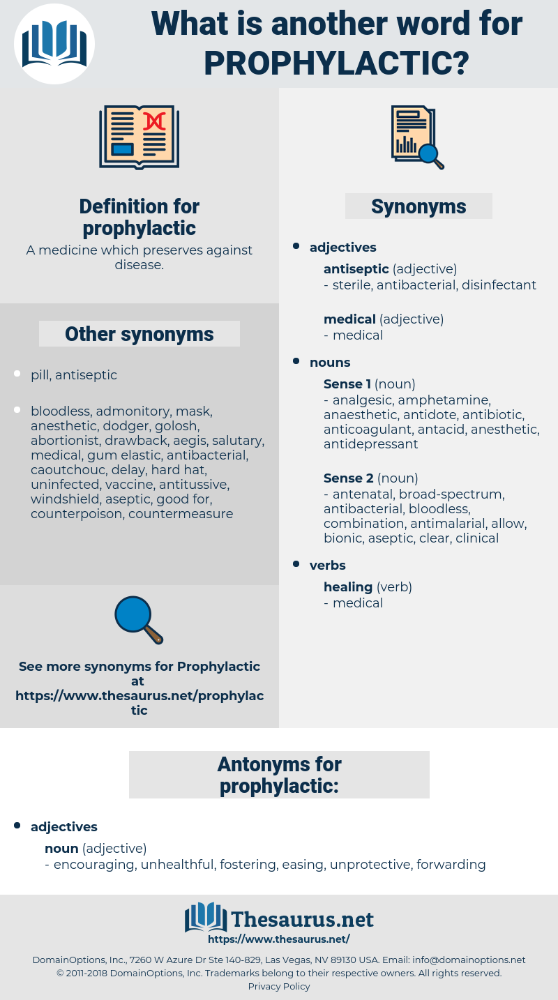 prophylactic, synonym prophylactic, another word for prophylactic, words like prophylactic, thesaurus prophylactic