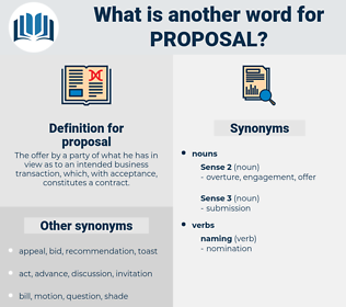 proposal, synonym proposal, another word for proposal, words like proposal, thesaurus proposal