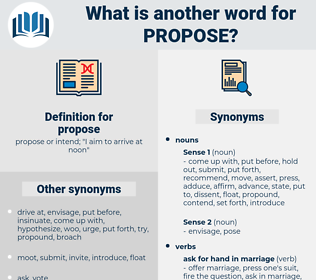 propose, synonym propose, another word for propose, words like propose, thesaurus propose