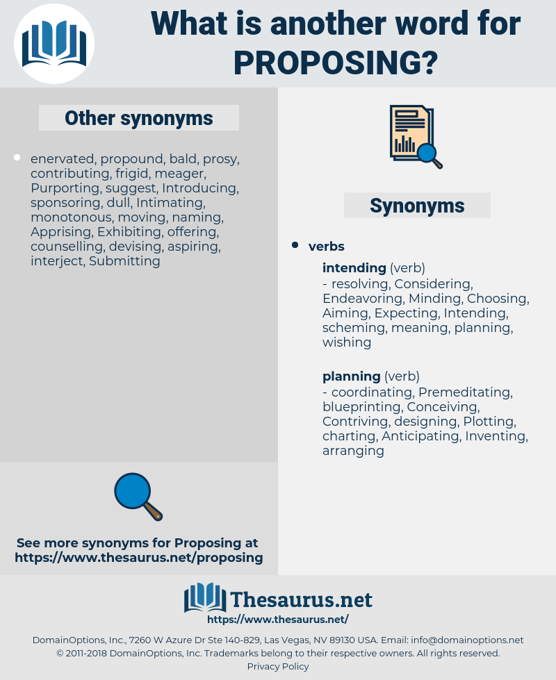 Proposing, synonym Proposing, another word for Proposing, words like Proposing, thesaurus Proposing
