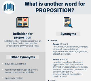 proposition, synonym proposition, another word for proposition, words like proposition, thesaurus proposition