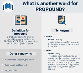 propound, synonym propound, another word for propound, words like propound, thesaurus propound