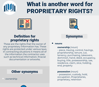 proprietary rights, synonym proprietary rights, another word for proprietary rights, words like proprietary rights, thesaurus proprietary rights