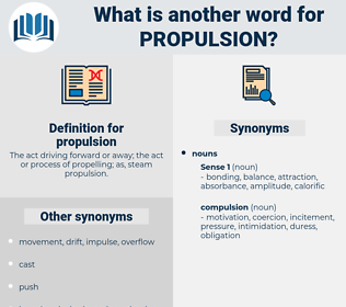 propulsion, synonym propulsion, another word for propulsion, words like propulsion, thesaurus propulsion