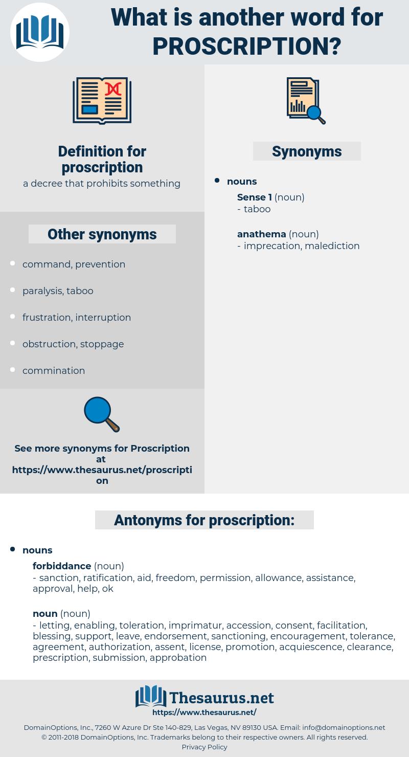 proscription, synonym proscription, another word for proscription, words like proscription, thesaurus proscription
