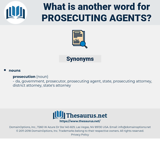 prosecuting agents, synonym prosecuting agents, another word for prosecuting agents, words like prosecuting agents, thesaurus prosecuting agents